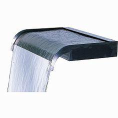 "Stowasis Sheer Cascade 48"" Backyard Water Feature, Ponds Backyard, Backyard Waterfalls, Garden Ponds, Koi Ponds, Outdoor Water Features, Water Features In The Garden, How To Install Gutters, Tabletop Fountain"