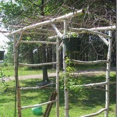 Rustic Garden Ideas | Rustic garden arbor.