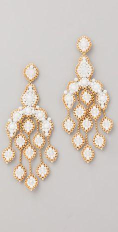 Miguel Ases Opalite Quartz Chandelier Earrings
