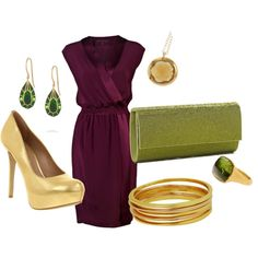 Love the dress and shoes !! Love GOLD !!
