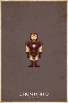 Comic Book Pixel Posters by Michael Myers, via Behance