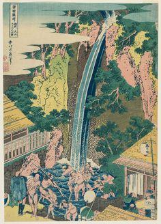 Title:諸国瀧廻り 相州大山ろうべんの滝 The Rôben Falls at Ôyama in Sagami Province (Sôshû Rôben no taki), from the series A Tour of Waterfalls in Various Provinces (Shokoku taki meguri Artist:葛飾北斎 Katsushika Hokusai