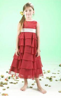 Red Sheath Tea-length Scoop Dress [Dresses 9464] - $89.00 : - KissPromGirl.com