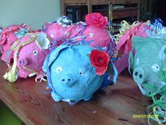 Invitations for the Piggy Party of my youngest girly - Piggy Piñata's