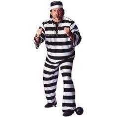 Plus Size Convict Man Costume