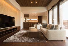 こだわりのお宅拝見|Column|ホームクラブ(homeclub)|住まいづくり応援ポータルサイト|ミサワホーム Interior Design Living Room Warm, Home Room Design, Modern Interior Design, House Design, Bedroom Decor, Living Room Decor, False Ceiling Design, House Rooms, House Styles