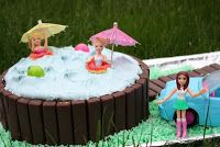 pass the peas, please: pool party cake