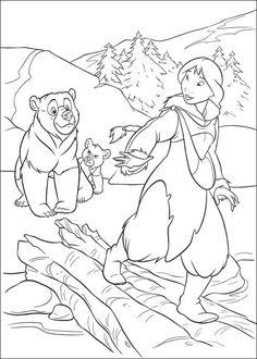 kleurplaat Brother bear 2 - Brother bear 2