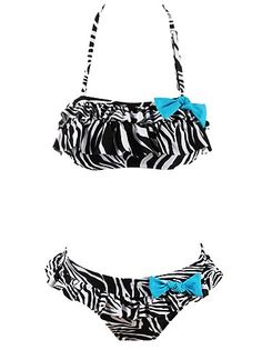Womens Swimwear Bandeau Halter Ruffle Two Piece Sexy Bikini $29.99
