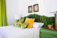 retro green bedroom