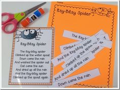"""""""Itsy-Bitsy Spider"""" Cut & Paste (from Doodlebugs / First Grade Rocks)"""