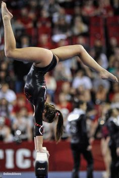 Brittany Rogers performs on the balance beam during a gymnastics meet against Stanford on Jan