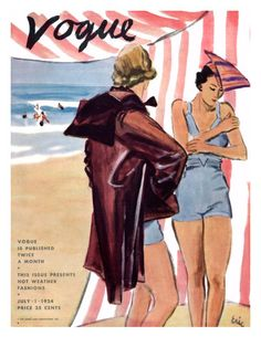 "Vogue Cover - July 1 1934 Poster Print by Carl ""Eric"" Erickson at the Condé…"