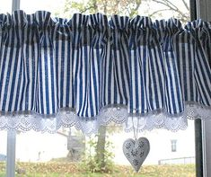Chaloupková domovina135x38 Cream Curtains, Cute Curtains, Short Curtains, Country Curtains, Valance Curtains, Door Design Interior, Window Dressings, Blinds For Windows, Kitchen Curtains
