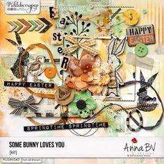 Some Bunny Loves You elements by Anna BV Designs Some Bunny Loves You, Easter Crafts, Happy Easter, Spring Time, Digital Scrapbooking, Anna, Love You, Collections, Hipster