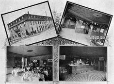 Grandview Hotel, Brandon MB  Exterior and interview views of Brandon's Grandview Hotel, circa 1901.  Source: Brandon Illustrated Souvenir, William A. Martel, Publisher, p. 112.