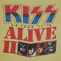 1970s KISS on tour | Vintage KISS 1977-1978 ALIVE II TOUR T-Shirt 70s concert