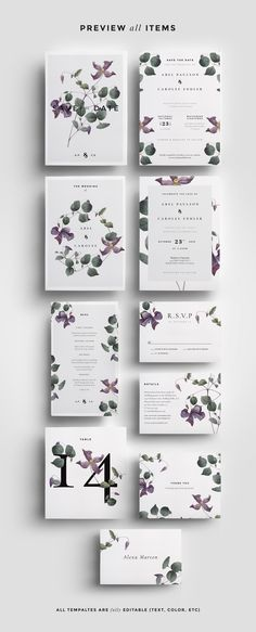 Modern Laurel Wedding Collection • Available here → https://creativemarket.com/paperie_press/949105-Modern-Laurel-Wedding-Collection?u=pxcr