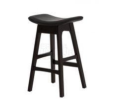 Replica Johannes Andersen Allegra Stool 66cm in black with black Italian Leather seat  (Available in a range of colours)