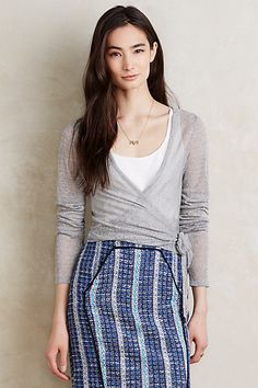 Whisper Wrap Top #anthropologie whole outfit