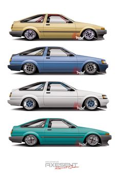 Toyota AE86 Levin & Trueno by Axesent