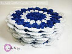 Nil Mal Crochet Coaster free pattern - Crochet for you