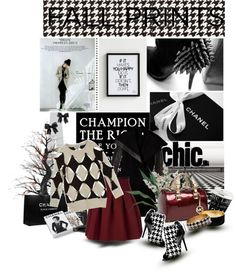 """Fall Prints: Houndstooth Y'all"" by bamaannie ❤ liked on Polyvore"