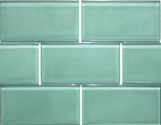 Prism 3 x 6 Glass Subway Tiles in Willow Green (3 x 6)