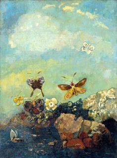 Odilon Redon, Butterflies, 1910