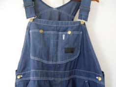 Men Denim Overall Blue Jean Overall Denim by TheVilleVintage, $47.99