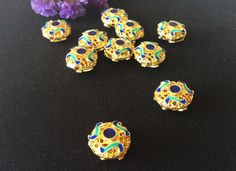 Top Qiality round wiry enamel craft gilding jewelry beads, gilding round beads, good for DIY jewelry,15mm by ForDIYsupplies on Etsy