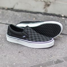 226f235ba17 Vans Classic Slip-On (Checkerboard) Black Sapatos Lindos