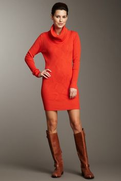 Wow Couture  Cowl Neck Sweater Dress
