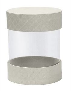 Rigid Set-up Box, Pretzel Cylinder, Pearlescent, Small, QTY/CASE-24