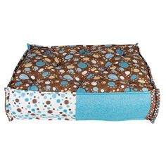 Caminha para Cães Futon Turco Patinhas Azul e Marrom Dog & Home - MeuAmigoPet.com.br #petshop #cachorro #cão #meuamigopet