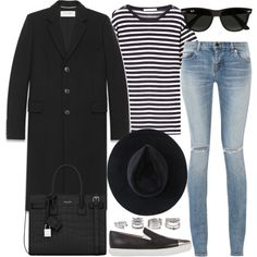 Untitled #2828 by briarachele on Polyvore featuring T By Alexander Wang, Yves Saint Laurent, Miu Miu, Forever 21, Ryan Roche and Ray-Ban