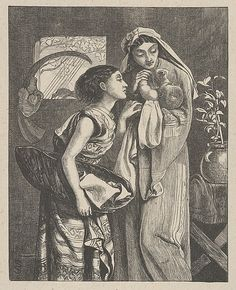 Simeon Solomon (British, 1840–1905). The Infant Moses (Dalziels' Bible Gallery),1863–81. The Metropolitan Museum of Art, New York. Anonymous Gift, 1926 (26.99.1(29)) #kids
