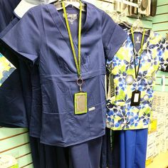 As well as #florals we have #classic plain coloured #scrubs including the best-selling #greysanatomy range from @barco.uniforms