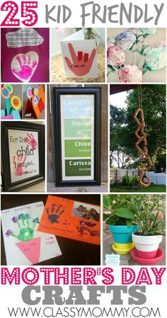 Best 25 Kid Friendly Easy Mother's Day Crafts #MothersDay