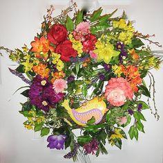 Colors Galore Front Door Decorative Wreath by MarysBluebirdWreaths, $125.00