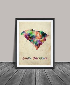 Hey, I found this really awesome Etsy listing at https://www.etsy.com/listing/228741273/south-carolina-watercolor-map-south