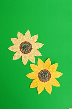 homemade sunflower card containing seeds that will grow actual flowers -- teacher's gift