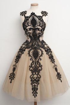Black and cream dress by chotronette