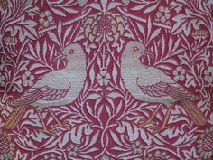 William Morris Antique 'Bird' Woven Wool Double Cloth