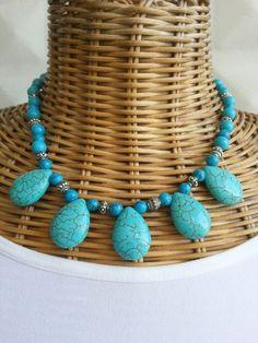 #Handmade #jewelry #necklace #blue