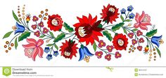Illustration about A beautiful hungarian Kalocsai floral pattern. Illustration of kalocsai, needlecraft, material - 33245916 Polish Embroidery, Hungarian Embroidery, Folk Embroidery, Embroidery Stitches, Embroidery Designs, Embroidery Flowers Pattern, Flower Patterns, Bordado Popular, Free Stock