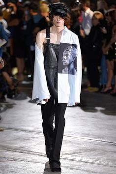 Raf Simons showed his Spring/Summer 2017 collection in Florence during Pitti Uomo.