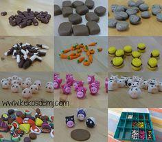 Set Polymer Clay Agricola Game (Animeeple and Vegemeeple)