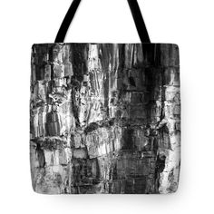 Wall Of Rock Tote Bag by Miroslava Jurcik.  The tote bag is machine washable, available in three different sizes, and includes a black strap for easy carrying on your shoulder.  All totes are available for worldwide shipping and include a money-back guarantee.