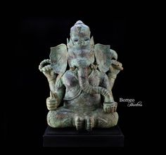 """Bronze Ganesh 21.5""""Chubby Gentle Wise Elephant-Headed Hindu God Of Removing Obstacles, Of Intellect&Wisdom;Success In The World by BorneoHunters on Etsy"""